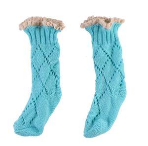Moda Bebek Kız Çocuklar için Örgü Örgü Pamuk Sıcak Çorap Sonbahar Kış Çocuklar için Katı Rahat Çorap