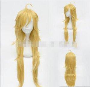 Envío gratis ++++ Panty Stocking con Garterbelt Panty Gold Long Cosplay Party Wig