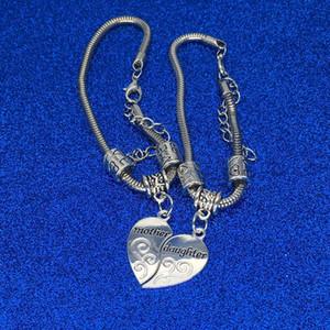 Письмо мать и дочь пара сердце браслет семья любовь Мама браслет сердце прелести ювелирные изделия для женщин дети падение доставка