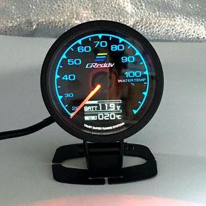 62mm 2.5 Inç 7 Renk 1 Yarış GReddy Çok D / A LCD Dijital Ekran Su sıcaklığı Ölçer Su Sıcaklığı Sensörü Ölçer