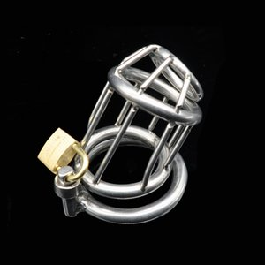 Criver Chastity Cage Bague Mâle Hommes Sexe en acier inoxydable Pour Homme Steel Chastity Device Device Ball ILPIN