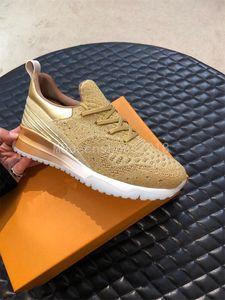 Designer Paris lusso delle scarpe da tennis casuali delle donne degli uomini di sport di marca corridori lavorato a maglia leggero mesh Trainer