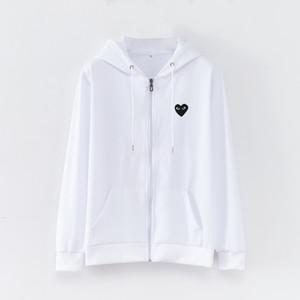 2018 весна и осень молния свитер с капюшоном мода удобные в форме сердца печати