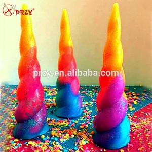 Silicona gel Unicorn Horn jabón molde molde vela de silicona moldes de silicona 3D para hacer jabón moldes de piedra de aroma