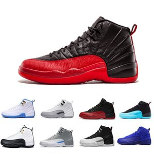 New Flu Game 12 12s Mens Scarpe da basket Classic Michigan College Navy Bordeaux Dark Grey 12s Scarpe sportive da uomo Trainer Scarpe US 8-13
