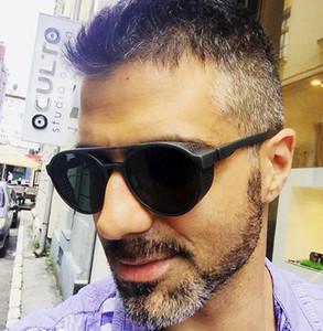Marco JackJad Ronda de nuevo de la manera estilo de Steampunk lado de la malla gafas de sol de los hombres del diseño de la vendimia Gafas de sol 97373