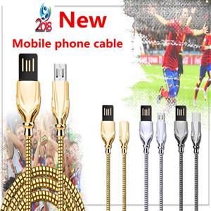 Copa do Mundo cabo USB liga de zinco Micro USB Type-c Carregador Rápido por cabo Telefone para Samsung Galaxy S7 S8 Com pacote de varejo