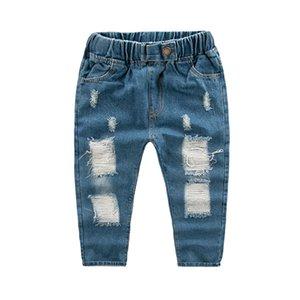 Trend 2019 дети повседневные брюки брюки повседневные джинсы дети мальчики дырки джинсы для мальчика дети мода джинсовые брюки детские штаны мальчика 6 лет