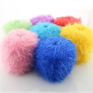 50g / Ball korallenroter Nerz, der Pelz Mohair-Kaschmir-Garn strickt Für strickende Wolle stricken für Handstricken häkeln laine Trikotergarn