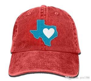 pzx @ Casquette de baseball pour hommes Femmes, Texas Heart Unisexe Coton réglable Jeans Chapeau Chapeau Multi-couleur en option