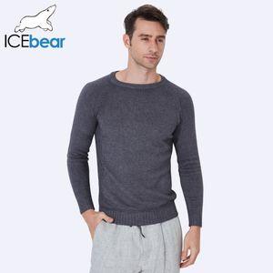 ICEbear 2017 Novo Outono Inverno Homens Camisolas Pullovers Malha Grosso Projeto Quente Slim Fit Casual Camisola De Malha Masculina 607D