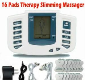 Stimulateur électrique Full Body Relax Muscle Thérapie Massager Massage Pulse des dizaines Acupuncture Soins de Santé Minceur Machine 16 Tampons