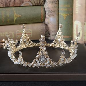 Shallow Jin Bai trapano Cristalli Matrimonio Diademi e corone Accessori diademi nuziali Perle piene piccole Perle diademi Corone HG859