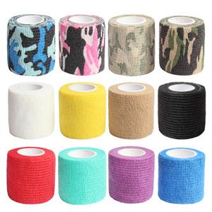 Самоклеющиеся ленты Сплоченная Wrap бинты Камуфляж Wrap Лента для охоты Strong Stretch Elastic 12 цветов