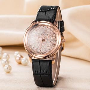 TOP Beliebte Casual Square Dial Face Damenuhr Schwarz / Weiß / Rot / Rotgold Diamant Leder Armbanduhr Dame Uhren berühmte Marke Dress Uhren