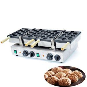 Qihang_top placa dupla noz elétrica bolo waffle maker / formas comerciais waffle stick maker / noz bolo que faz a máquina