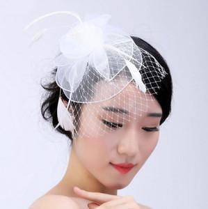 Cappelli sinamany di Fascinator del cappello di Fascinator dei cappelli da sposa classici delle signore di stile occidentale messicano di colore rosso dei blu navy bianchi per le nozze del partito