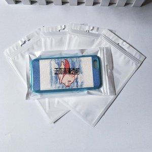 10x18cm 2000шт Лот ясно / Белый Поли открытым верхом термосварки пластиковые упаковка мешки для сухой еды жара-уплотнение вакуума Поли пластиковая упаковка мешки