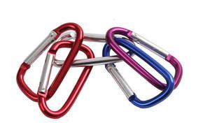 mini Aluminum multitool button Carabiner keychain Durable camping hiking Carabiner key ring Snap Clip Hooks EDC hangs