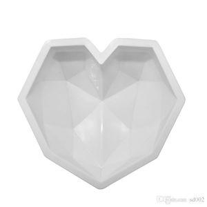 Алмаз любовь форма сердца мусс плесень Термостойкие силиконовые торт плесень Эко - шоколад кухня выпечки инструменты высокого качества 16 8HC ZZ
