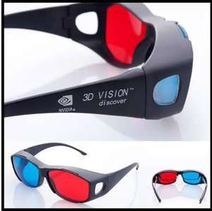NEW Fashion Universal Typ 3D Brille / Rot Blau Cyan 3D Brille Anaglyph 3D Plastik Brille