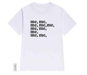 Letter me printing personality t-shirt female short-sleeved loose small fresh shirt summer