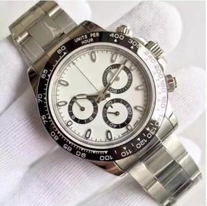 Relógios de luxo 40MM clássico preto e branco série dezel Tona espelho de safira movimento automático cinta de aço inoxidável 316L bestsell