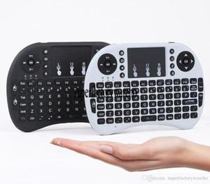 I8 Mini Kablosuz Klavye 2.4 GHz İngilizce Arapça Rusça İbranice QWERTY Klavye Android TV Box Laptop Için Touchpad ile