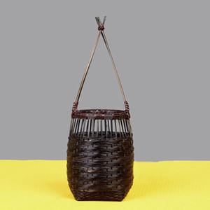 naturaleza simple flor de madera implementar canasta de hogar jarrón de madera de bambú actuar el papel ofing decoración mobiliario artículos flor