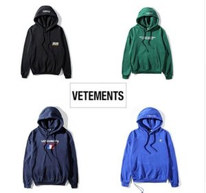 2018ss new Europe hip-hop collection Men Women hoodies pullover quality hiphop VETEMENTS Oversized Hoodie Sweatshirts
