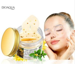 Free Shipping BIOAQUA Gold Osmanthus Eye Mask Collagen Gel Whey Protein Sleep Patches Remove Dark Circle Mousturizing Eye Mask
