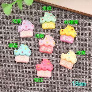 Resina Gelato bacio ciondolo cupcake kawaii simulato finto cibo artigianale creazione di gioielli artigianali novità prodotti gioielli