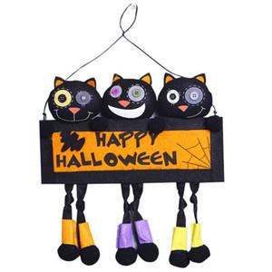 Новый дизайн Хэллоуин украшения Творческий DIY партии Home Decor Bar Главная Дверь Подвесной Big Black Cat высшего качества партии 2 Цвет