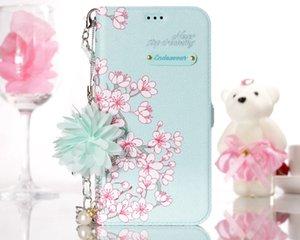 Iphone için XR XS MAX X 8 7 6 SE Galaxy S10 S10e S10 + S9 Durumda Çiçek Deri Cüzdan Şık Çiçek KIMLIK Kartı Yuvası Flip Kapak Standı Kılıfı + Kayış