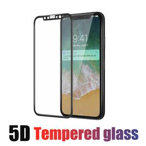 ل IPhone X 8 7 Plus Full Cover، واقي شاشة من الزجاج المقسى بغطاء 5D من Edge إلى Edge، مع واقي الشاشة Full Screen Protector no Pakcage