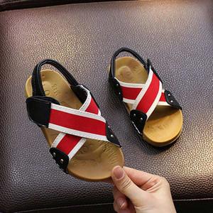 Sandalias de verano para niños sandalias unisex para niños Zapatos para niños pequeños para niñas sandalias planas de tendón suave # 25
