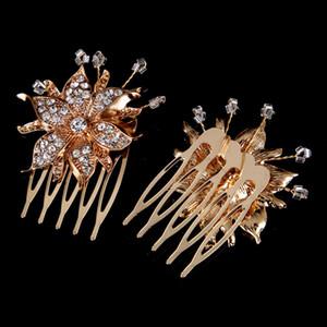 Горячие продажи Европейский и американский сплав дрель гребень свадебное платье Алмаз цветок аксессуары свадебные украшения женщины волосы головные уборы