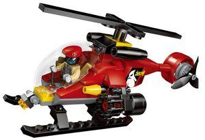 Minifigures Serie Police Police Helicopter Chase Mini Figure Building Blocks Set Giocattolo per bambini Mattoni