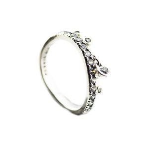 Compatible avec Chandelier Bijoux Europe Gouttelettes Bague de mariage original Anneaux Bijoux argent 925 gros bricolage