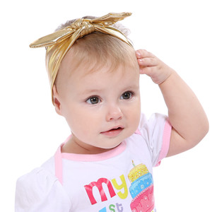 Baby Solid Rabbit ear Glitter Headband Kids Turban Knitted Hair Accessories Children rabbit ear Headwear for Children lovely fashion
