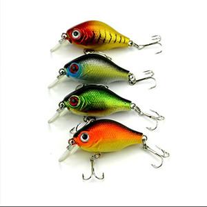 LENPABY 8pcs / lot Mini Crankbaits Leurres Panfish Flottants Crank Bas Pêche 5.5its