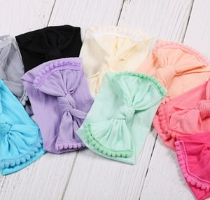 bebé diadema bowknot diadema 11 colores muy suave camiseta mariposa diademas diademas niños niños peluches para niños rosa