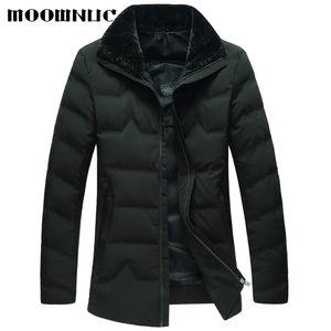 Parka Men Coats 2018 Winter Jacket Men Slim Thicken Fur Outwear Warm Coat  Clothing Casual Men's Coat Tops Classic MOOWNUC