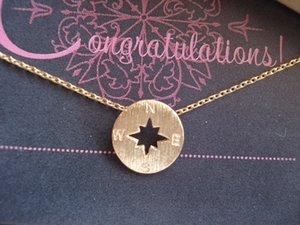 small round compass charm bracelet hollow geometric disc Directional navigation bracelet sailor beach amulet pendant bracelet jewelry