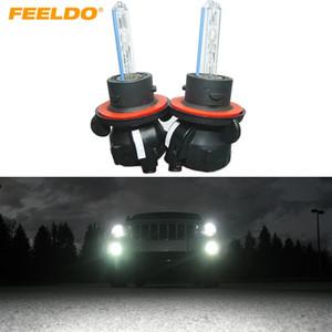 FEELDO 2x 35w lampe phare de voiture au xénon H13 / 9008 ampoules de remplacement AC bi-xénon AC HID # 2118