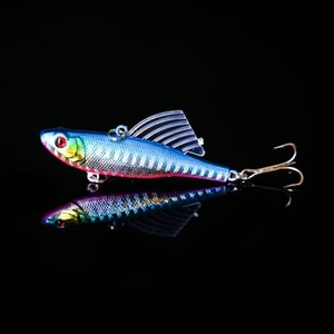1PC 7cm 18g Winter Sea Hard Fishing Lure VIB Bait With Lead Inside Diving Swivel Jig Wing Wobbler Crankbait