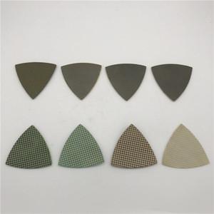 Треугольная полировальная подушка 3-дюймовый шлифовальный диск Renovator Multi Tool Гальванические алмазные прокладки Аксессуар для Renovator Dremel 8 шт. / Лот