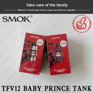 Autêntico smok TFV12 Baby Prince Tanque 4.5 ml Patenteado Mecanismo de Bloqueio Atomizador Com Cobra Tubo de Gotejamento Lâmpada de Vidro Tubo De Malha Bobinas Smoktech