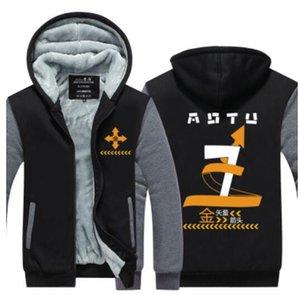 Новый Aotu мир косплей зима кашемир толстовка куртка досуг толстовки сгущаться кардиган пальто с длинным рукавом спортивный костюм пуловеры топы США размер