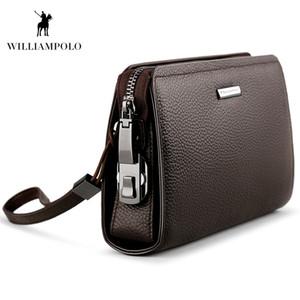 WILLIAMPOLO Echtes Leder Herren Clutch Wallet Mit Coded Lock Herren Geldbörse Business Mann Clutch Geldbörse Herren Handtasche POLO286